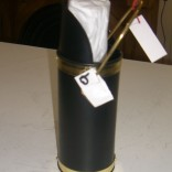 Brass and Black match holder with fireplace matches