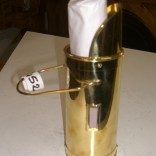 Brass match holder with fireplace matches