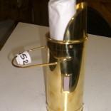 Brass match holder with fireplace matches