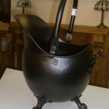 Black large coal Scuttle