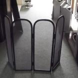 Wrought iron 4 fold fireguard