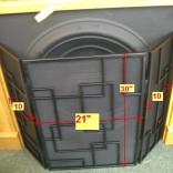 Wrought iron 3 fold fireguard