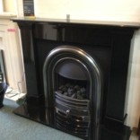 Black Granite Fireplace – Showroom