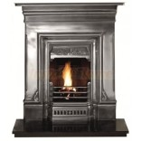 "36"" Combi: 2  Plain  Cast Iron Fireplace ,"