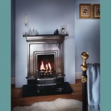 "36"" Combi: Plain  Cast Iron Fireplace"