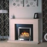 "Magiglo Ekos 20"" with pebble fuel bed,"