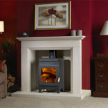 Wood Burning Stove -/ Fireball Range / Hollywell 9105