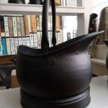 Large Coal Scuttle  Black finished