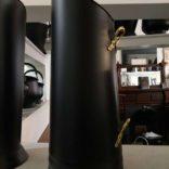 Coal Scuttle Black & Brass Handles