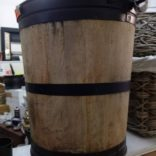 Wooden coal/log storage barrel